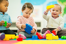 Child Development Babies Playing in Daycare